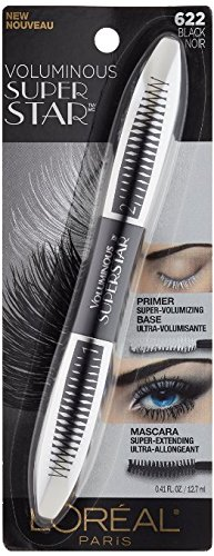 Lor Vol Suprstar Wsh Blac Size .41z L'Oreal Voluminous Superstar Washable Mascara 622 Black 0.41oz (Maybelline Mascara Voluminous)