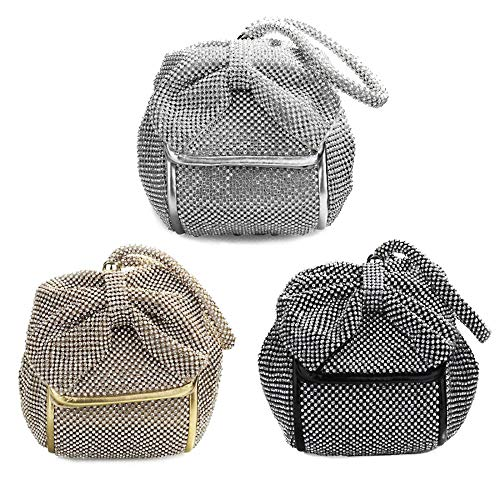for Bride Fashion Shoulder Wedding Prom Evening Clutch Bags Black Handbags HWxX4wxf8q