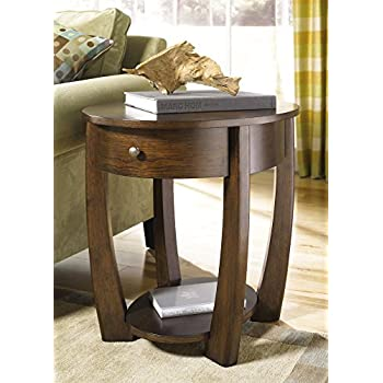 Amazon Com Hammary Concierge Oval End Table In Brown