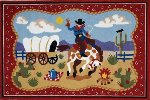 Fun Rugs Olive Kids Ride 'Em Home Decorative Accent Area Rug 19