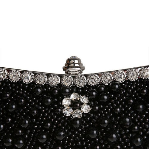 Handbags Beaded Wedding Black Women's Evening Belsen qw1pPgB