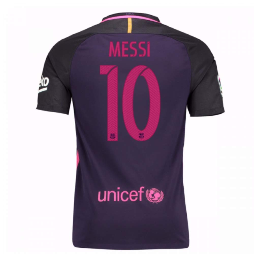 Nike 2016-2017 Barcelona Away Football Soccer T-Shirt Trikot (Kids) - with Sponsor