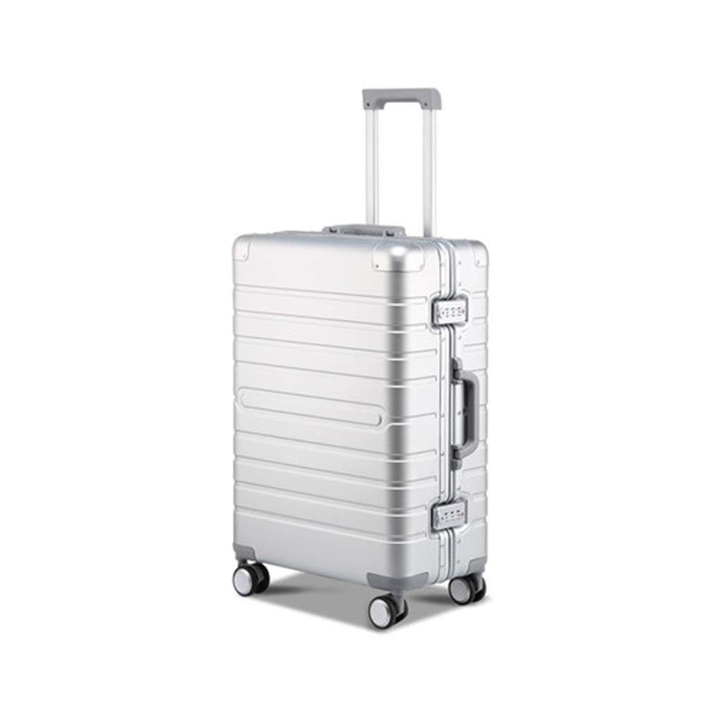 スーツケース - 荷物の金属のスーツケース、軽い普遍的な車輪、シャーシ、多機能のパスワードトロリー箱 - スーツケース HARDY-YI 6544 (サイズ さいず : 29 inches) B07RWBD3X2  29 inches
