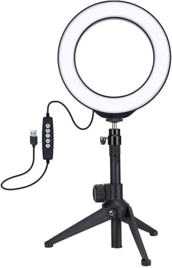 Tosuny Anillo de luz LED port/átil Kit de luz de Anillo LED con Soporte para tr/ípode Hogar Soporte de luz de Relleno LED para fotograf/ía Ligera USB para Interiores Fotograf/ía de Youtube