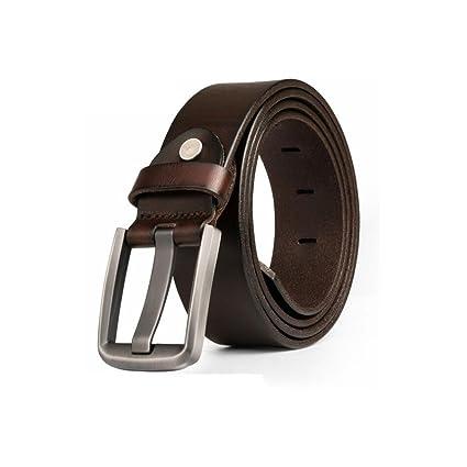 Dall Cinturones De Los Hombres Cinturón De Cuero Hebilla De Cinturones  Cinturón Hebilla Pulida Jeans Casual be30c816836d