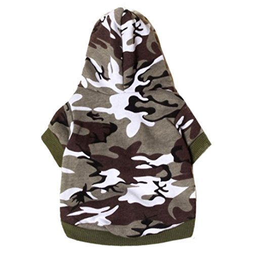 New Pet Dog Cat Camo Clothing Hoody Apparel Puppy Doggy Camouflage Coat (L, A) (Doggy Clothing)