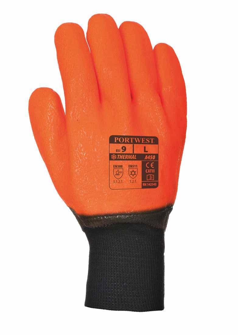 Portwest A450ORRXL Guanto Impermeabile ad Alta Visibilit/à XL//10 Arancione//Nero