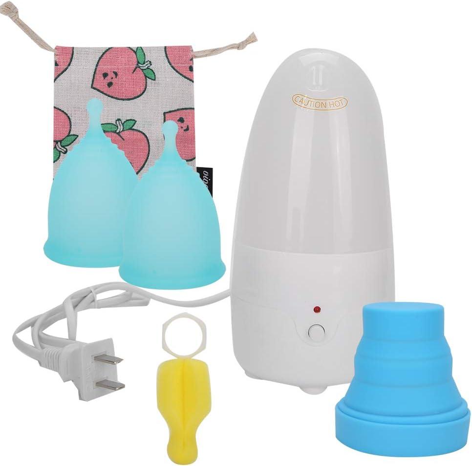 Copa menstrual de silicona con máquina de limpieza, cómoda copa de período reutilizable, copa femenina de higiene de seguridad sin fugas, suministros ...