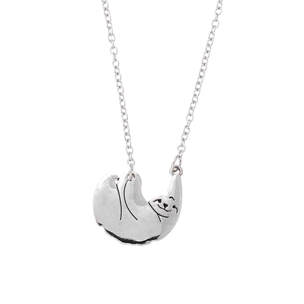 Hmlai Women Necklace, Ladies Hip Hop Necklace Retro Art Trend Fashion Charming Choker Jewelry for Cocktail Party (Silver)