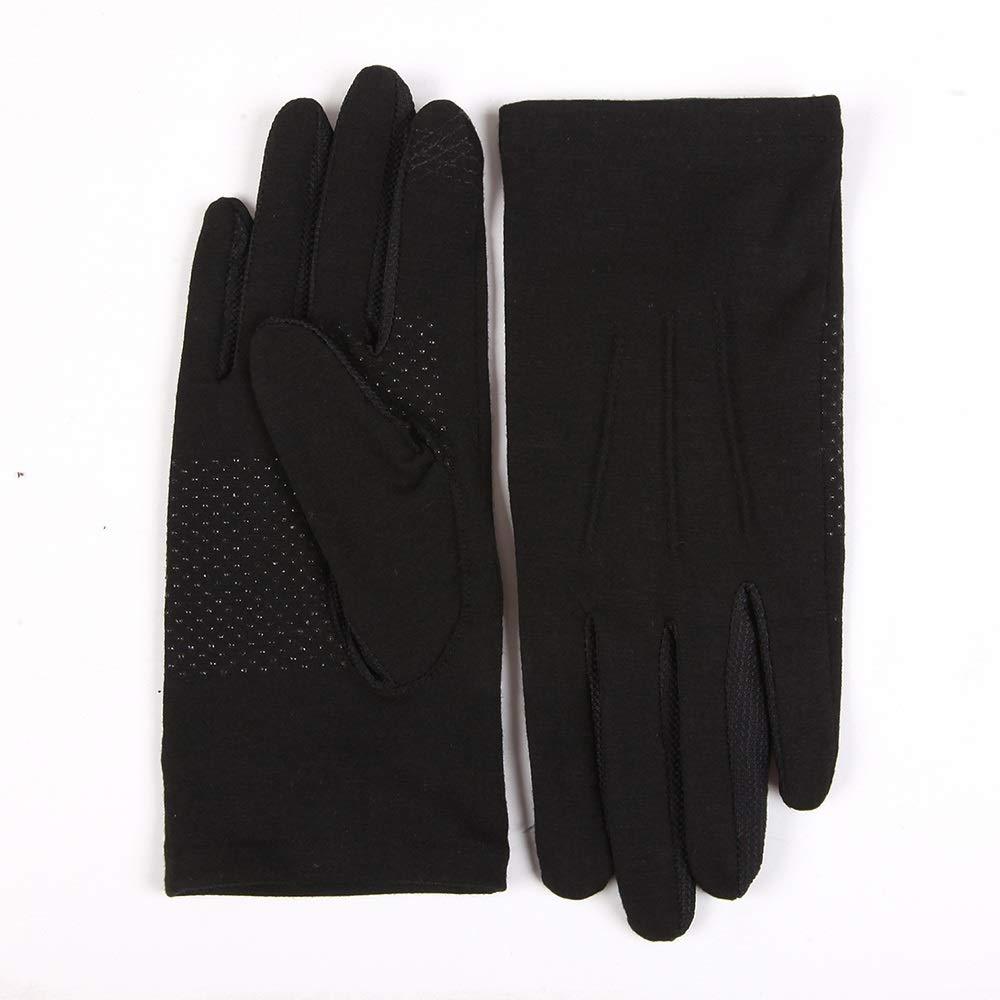 schwarz M-Five pairs Sadasda223 Handschuhe UPF50 + Atmungsaktive, rutschfeste, dünne Fahrhandschuhe for Männer und Frauen mit Sonnenschutz