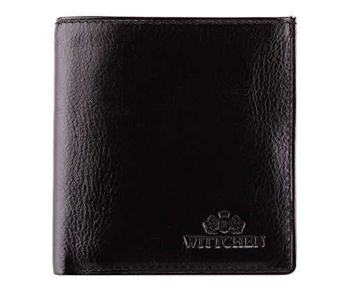 Cuir de Matériel Horizontalement 065 Italy Taille 5 Collection 9 10 Noir 1 Couleur Orientation x CM grain Wittchen Portefeuille L1 21 6qtXII