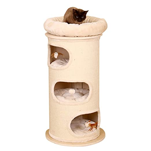 Amazon.com: DJLOOKK Cat Tree Sisal Tube Cat Litter Cat Tree Solid Wood Cat Climbing Frame Large One Cat Jumping Platform Cat Scratching Cat Toy: Sports & ...