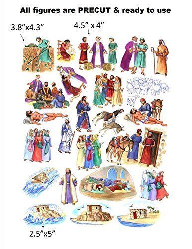 (The Parables of Jesus Felt Figures for Flannel Board Bible Stories-precut)