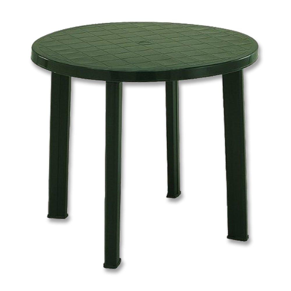 Fun Star IPAE-Progarden Tondo Round Table, Green, Plastic, 90 x 90 x 72 cm 661837
