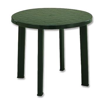 Attractive Fun Star Tondo Plastic Table 90 Cm Green