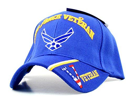 - Air Force Veteran Split Bill Premium Embroidered Baseball Cap Hat United States Military
