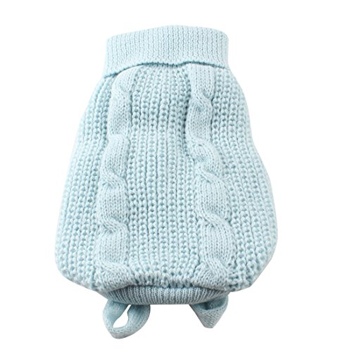 Light Blue Turtleneck Knitting Pet Dog Cat Clothing Sweater Coat XXS