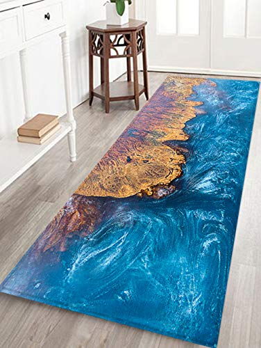 Bathroom Rug Non-Slip Flannel Microfiber Bath Mat Area Rug with Water Resistant Rubber Back Anti-Slip for Kitchen and Bathroom