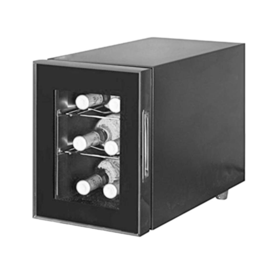 Aobosi Built in Wine Cooler 6 bottles, Electronic Controls, Mini Size, Freestanding Wine Refrigerator, Black
