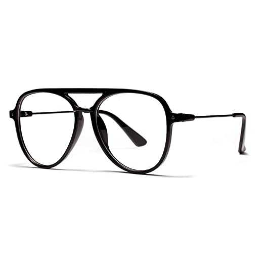 b9dd41bf8c55 Oversized Glasses for Men Retro Eyeglasses Frame Women Accessories  Transparent (black)