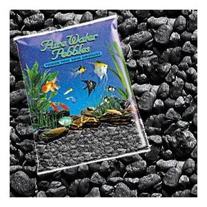 Pure Water Pebbles Nature's Ocean Aquarium Jet Black Gravel, 5lb Bag 117