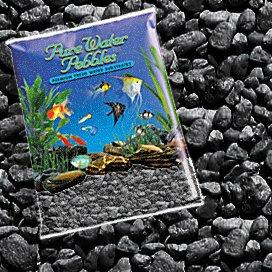 Pure Water Pebbles Nature's Ocean Aquarium Jet Black Gravel, 5lb Bag