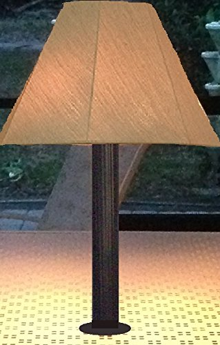 Outdoor Patio Lamp, Table Top Umbrella Hole Opening - Bronze