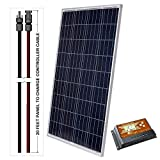 LightCatcher-Solar 100-Watt 12-Volt Polycrystalline Solar Panel Kit (Panel+PWM Controller + 20' Wire)