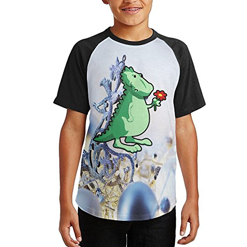 Cartoon Dinosaurs Boys Casual Sleeve T-Shirt for cheap