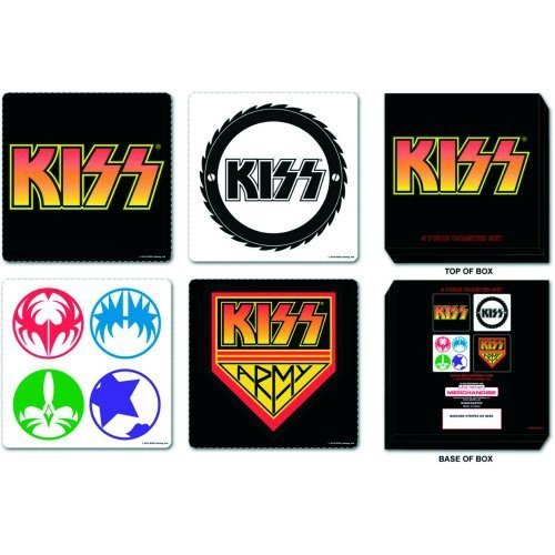 Kiss Coaster Set: Mixed (Kiss Coasters)