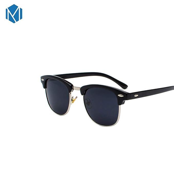 MISM Gafas de sol Clubmaster semi sin montura polarizadas ...