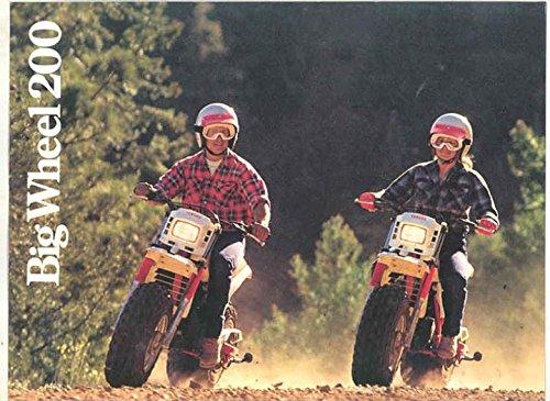 1985 1986 1987 1988 1989 Yamaha Big Wheel 200 Motorcycle Brochure (Yamaha Big Wheel 200 compare prices)