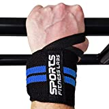 12 Maximum Mobility Wrist Wraps By Sports Fitness Labs | Durable Straps With Strong Velcro and a Thumb Loop | Best For Weightlifting, Bodybuilding, CrossFit, Powerlifting For Men & Women, set of 2