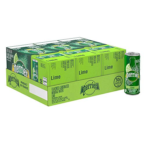 - Perrier Lime Flavored Carbonated Mineral Water, 8.45 fl oz. Slim Cans (30 Count)