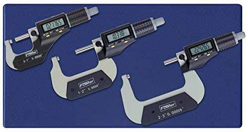 Digital Micrometer Set - Fowler 54-870-103-0 Full Warranty Xtra-Value II Electronic Μm Set with Grey Enamel Finish, 0-3
