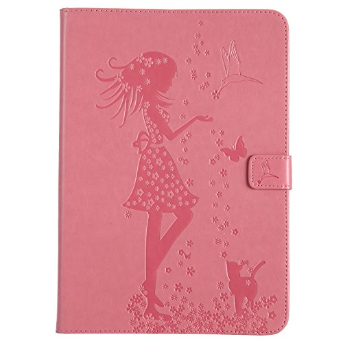 7 Built Auto in pattern Tab Wake Ultra Smart Smart Case Cat shell T550 A Galaxy pink 7 Samsung Cover BONROY Samsung 9 cat and 7 Case Galaxy Slim Girl T55 9 A series and Girl 9 A Tab Stand Galaxy Tab For Sleep Samsung wRICFq