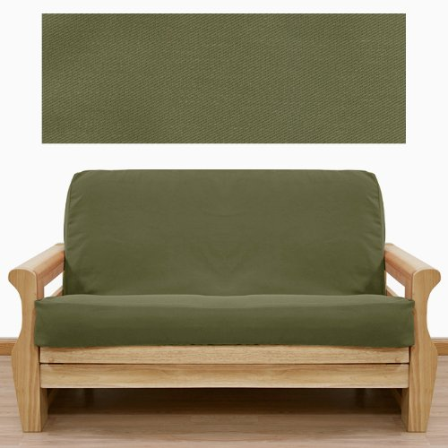 (Twill Solid Olive Futon Cover Full 397)