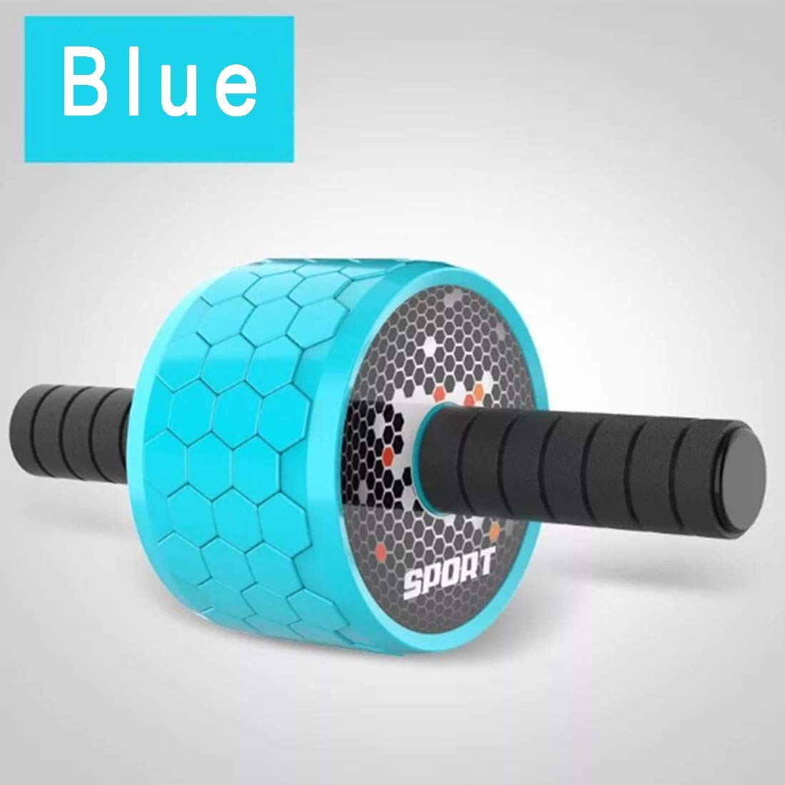 Sugoishop Wheel Roller Kit AB Roller Pro with Push-Up Bar, Jump Rope and Knee Pad Perfect Abdominal Core Carver Fitness Workout (Color : Blue)