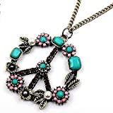 Retro Peace Pendant Necklace