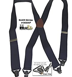 Hold-Ups Black Snow Ski Suspenders 1 1/2\