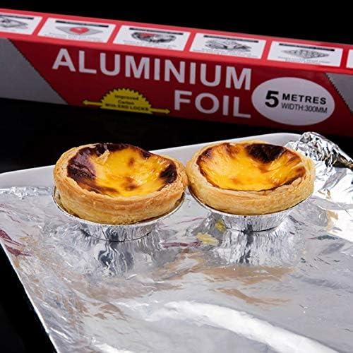 Rouku Outils de Cuisson Barbecue Barbecue Feuille d'étain Papier d'aluminium pour Barbecue Four Feuille d'étain Papier d'aluminium