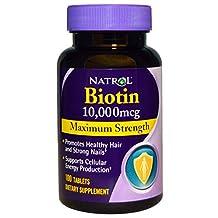 Natrol Biotin Maximum Strength 100 Tablets