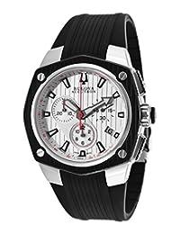 Bulova Accutron Corvara Chronograph Silver Dial Mens Watch 65B140