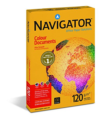 Navigator Colour Documents Paper Ultra Smooth 120gsm A4 White Ref NAV0330 [250 Sheets] -