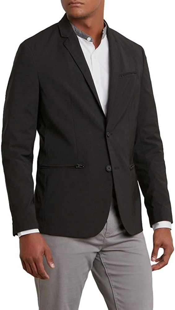 Kenneth Cole Mens Tech Blazer Jacket