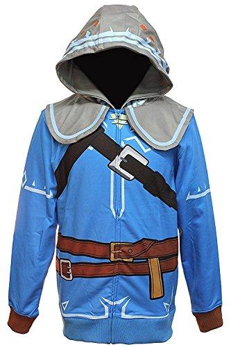 Link Costume Skyward Sword (Zelda Breath of the Wild Suit Up Costume Hoodie (XX-Large))