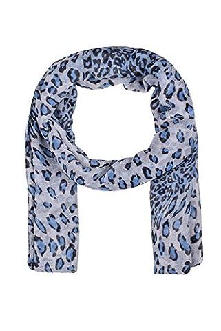 Lightweight Blue Womans Scarfs Womens Leopard Print Scarf Ladies Blue Shawl Wrap