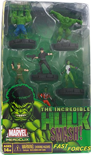 Marvel Heroclix The Incredible Hulk Fast Forces Deluxe Starter Game Includes 6 (Heroclix Hulk)