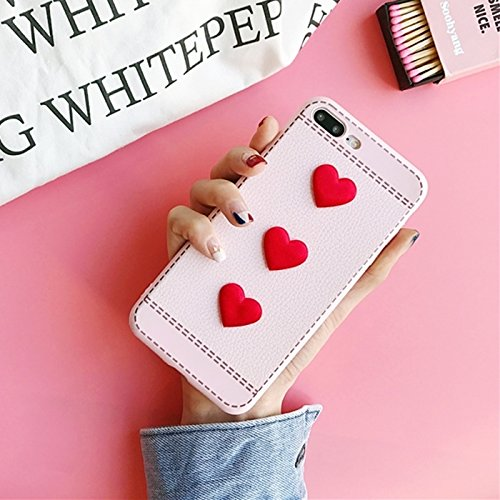 MXNET IPhone 7 Plus Fall, Red Heart Full Coverage Schutzhülle Abdeckung Fall CASE FÜR IPHONE 7 PLUS ( Color : Pink )