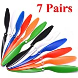 "HappyCow 7 Pairs/ 14pcs ABS 10x4.5"" 1045 1045R CW CCW Propeller For DJI F450 500 F550 FPV RC Multi-Copter QuadCopter UAV Drone propeller Frame Drone DIY"